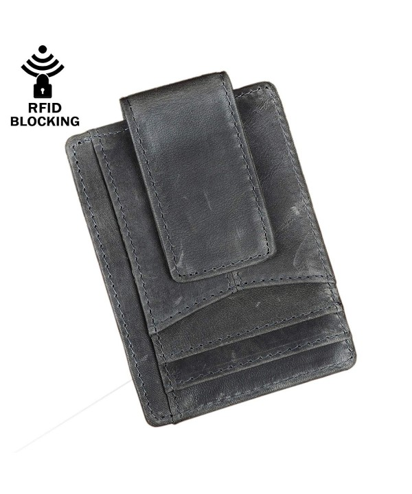 Leaokuu Leather Minimalist Wallet Pocket