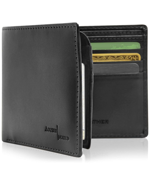 Vegan Leather Slim Wallets Men