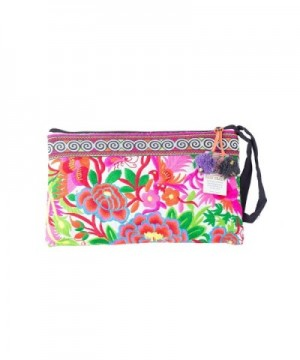 White Garden Tribal Clutch Embroidery