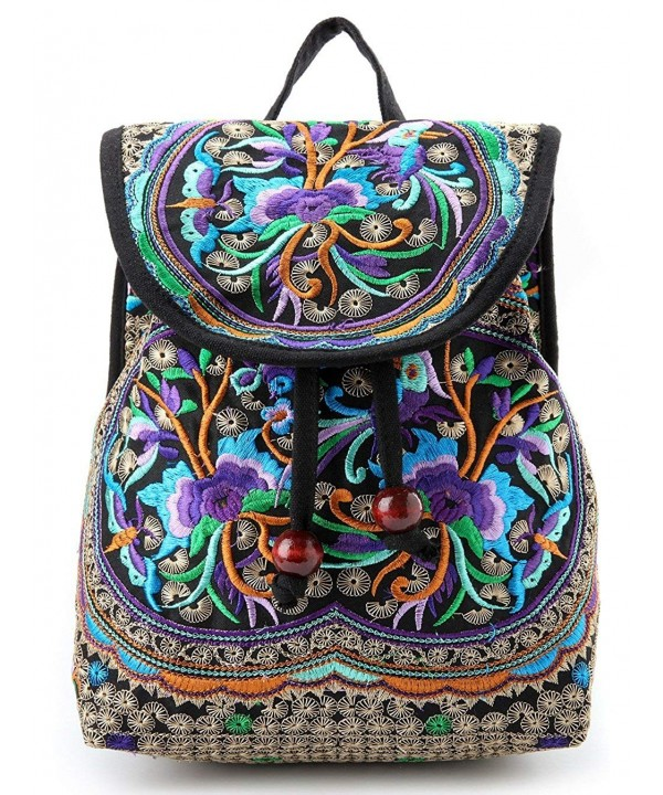 Goodhan Vintage Embroidery Backpack Shoulder