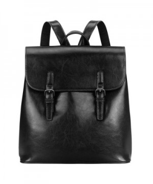 S ZONE Leather Backpack Commuter Daypack