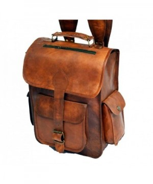 Leather Vintage Handmade Backpack College