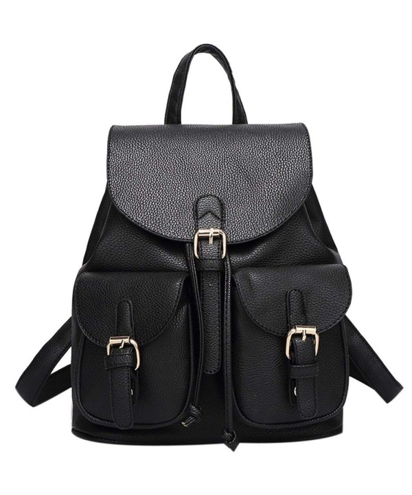 Leather Backpack COOFIT School Daypacks