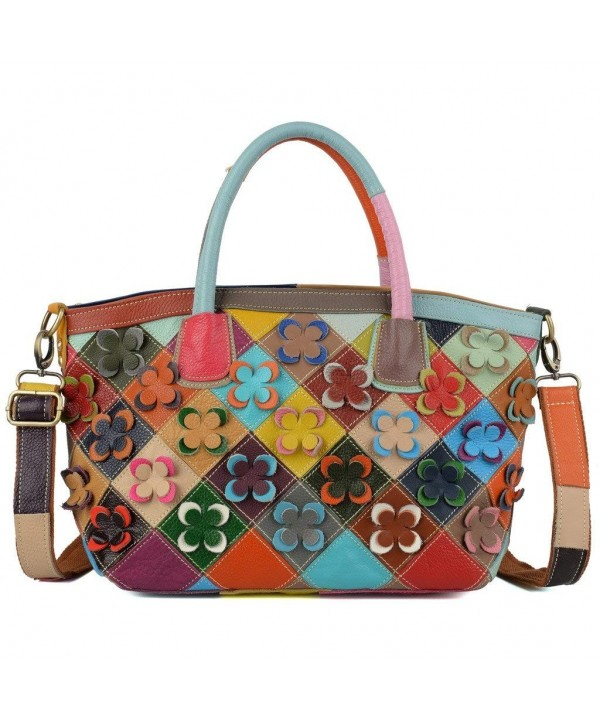YALUXE Lambskin Multicolor Crossbody Shoulder