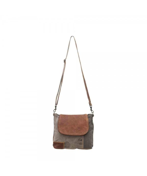 Myra Flap Over Upcycled Shoulder Bag