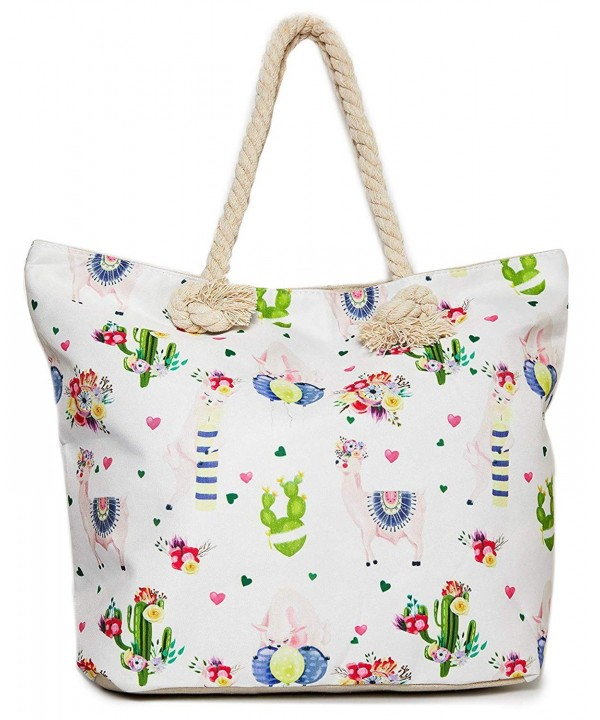 Llama Beach Shoulder Tote Bag