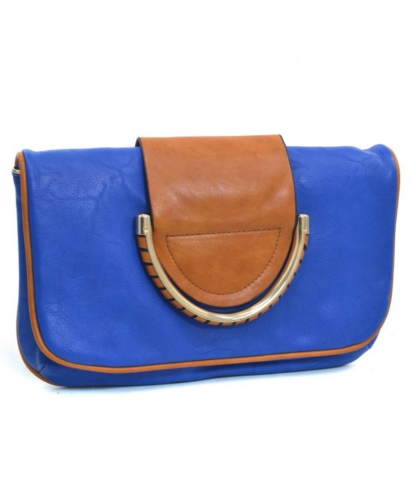 Dasein Two Tone Foldover Clutch
