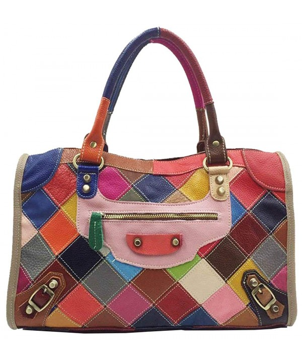 Leather Multi color Top handle Cross body Shoulder