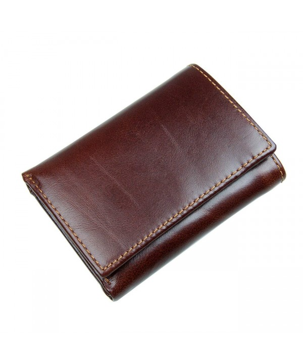 Itslife Blocking Leather Trifold Chocolate