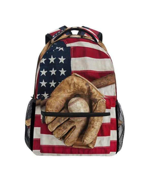 TropicalLife American Baseball Backpacks Shoulder