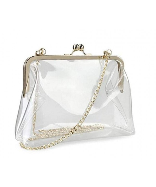Louise Maelys Clear Transparent Clutch