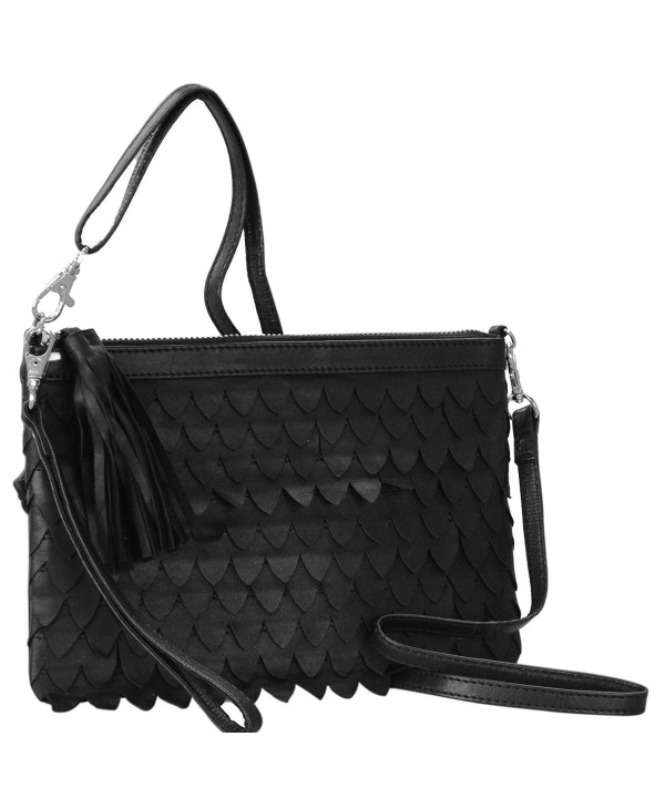 Genuine Leather Crossbody Bag 2 223 3W black