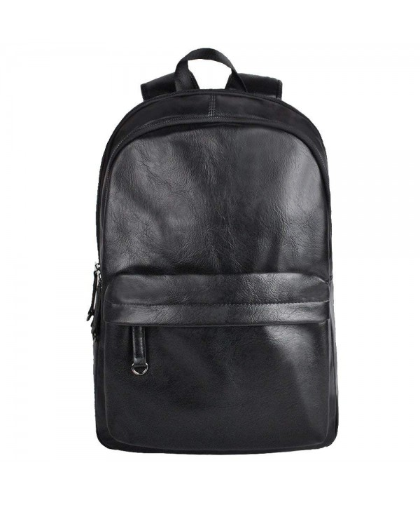 Leather Backpack Waterproof Anti Theft Daypack