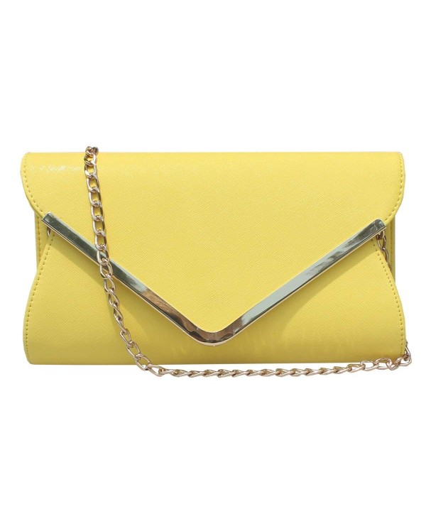 Leather Envelope Evening Handbag Wristlet