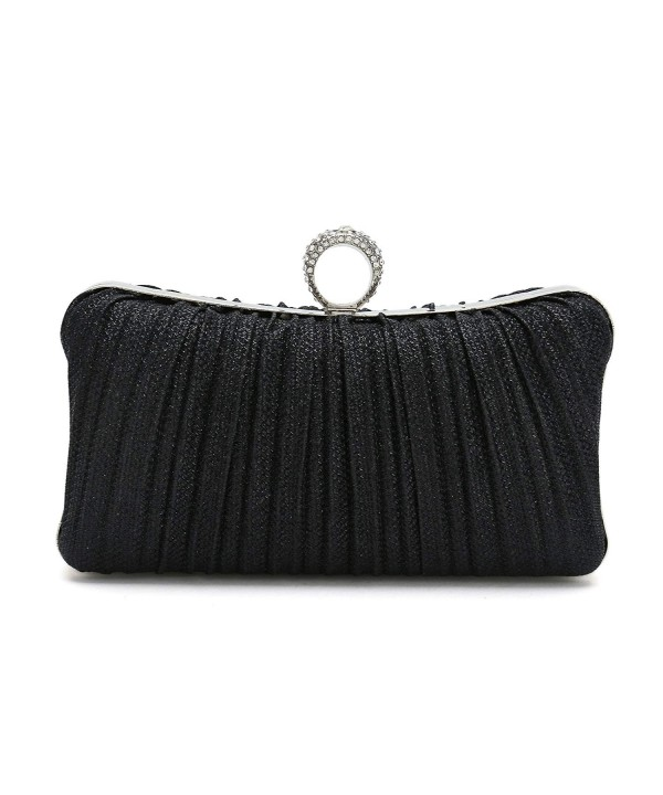 ChilMo Pleated Crystal Studded Handbag Evening