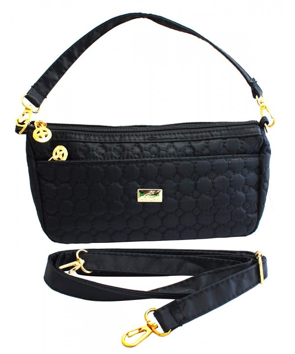 Bijoux Quilted Fabric Shoulder Handbag