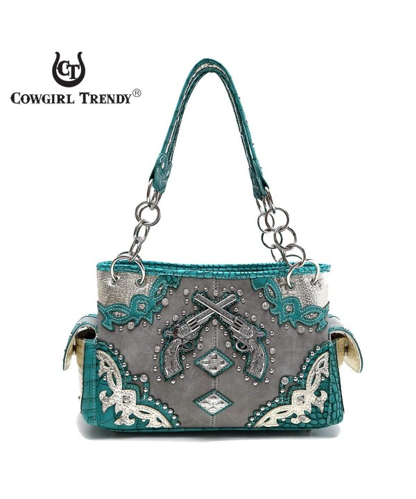 Western Handbag Concealed Satchel Shoulder