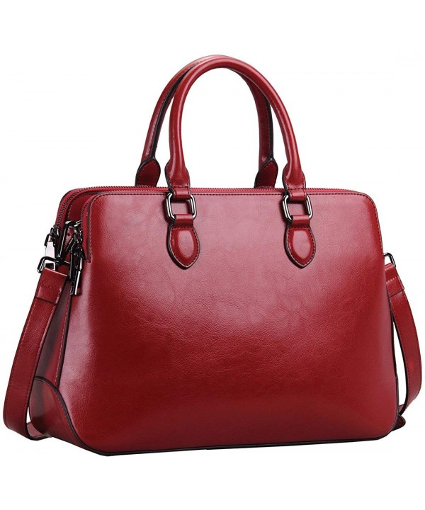 Leather Womens Handbags Shoulder Satchel
