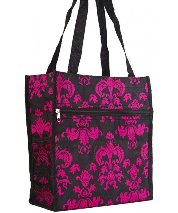 Magenta Pink Floral Damask Travel