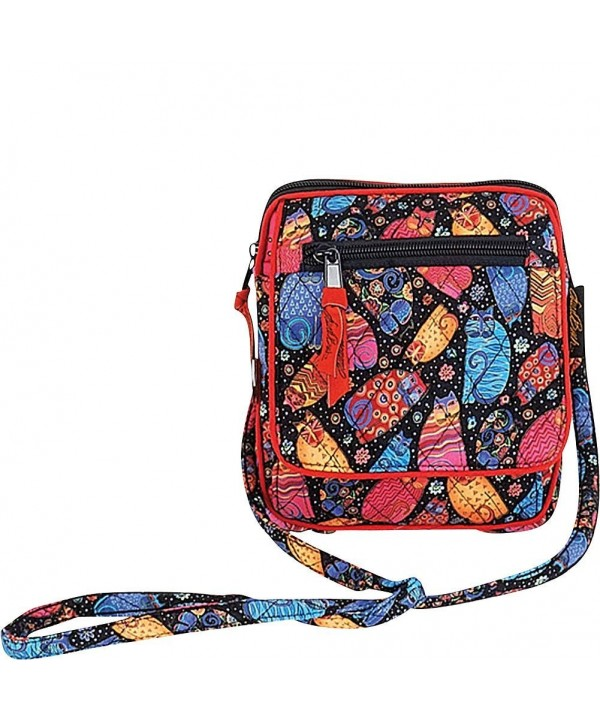 Laurel Burch Multi Feline Crossbody