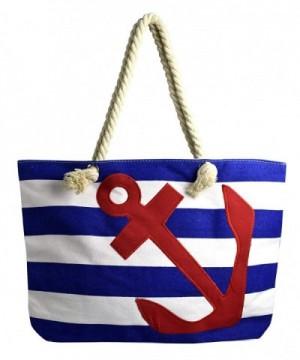 Peach Couture Nautical Anchor Stripe
