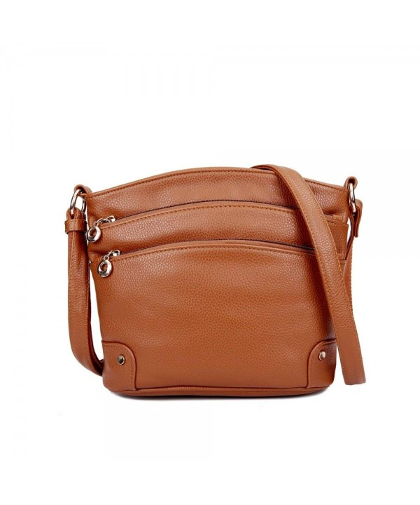 Mynos Genuine Leather Handbag Crossbody