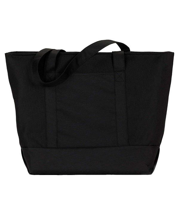 UltraClub Zippered Polyester Tote Bag