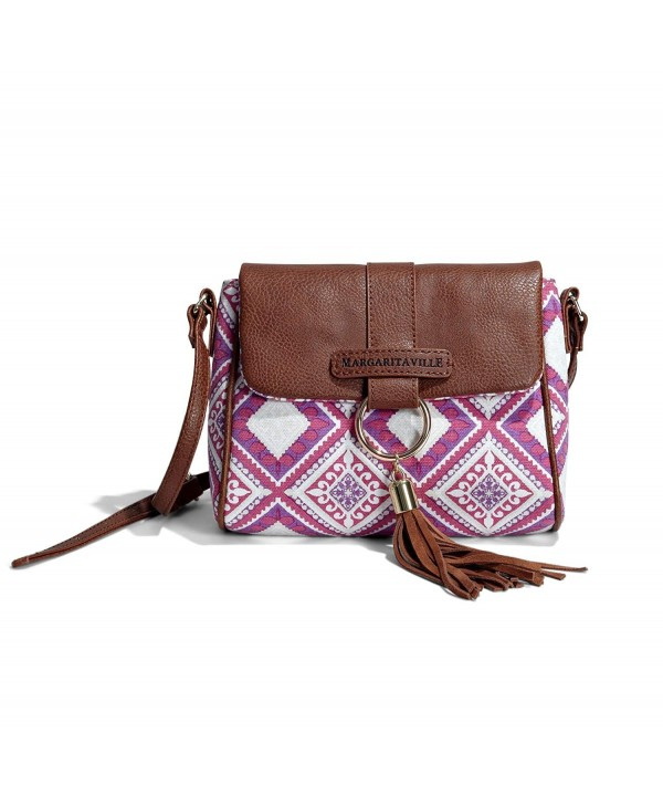 Margaritaville Womens Crossbody Shoulder Fuchsia