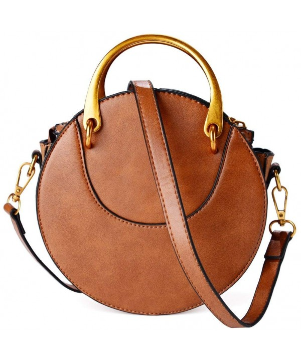 Leather Round Purse Fashion Crossbody