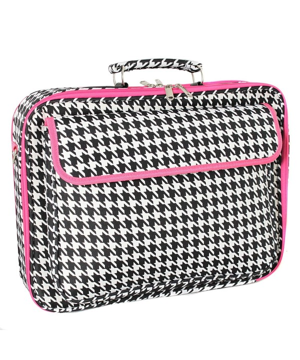 World Traveler Computer Fuchsia Houndstooth