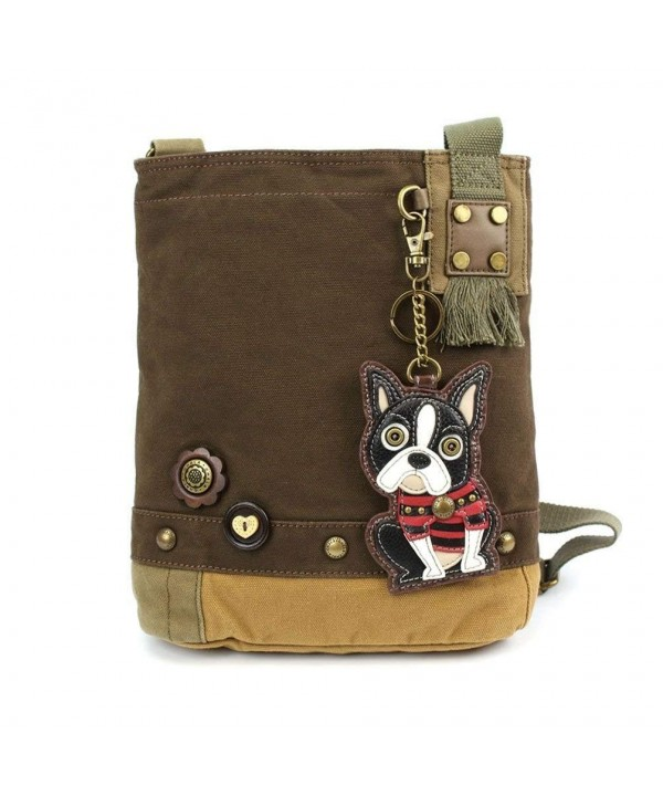 Womens Canvas Crossbody Handbag Terrier