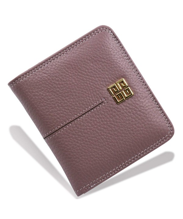 Womens Compact Bi fold Leather Pocket