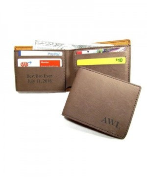 Personalized Leather Bifold Monogrammed Initials