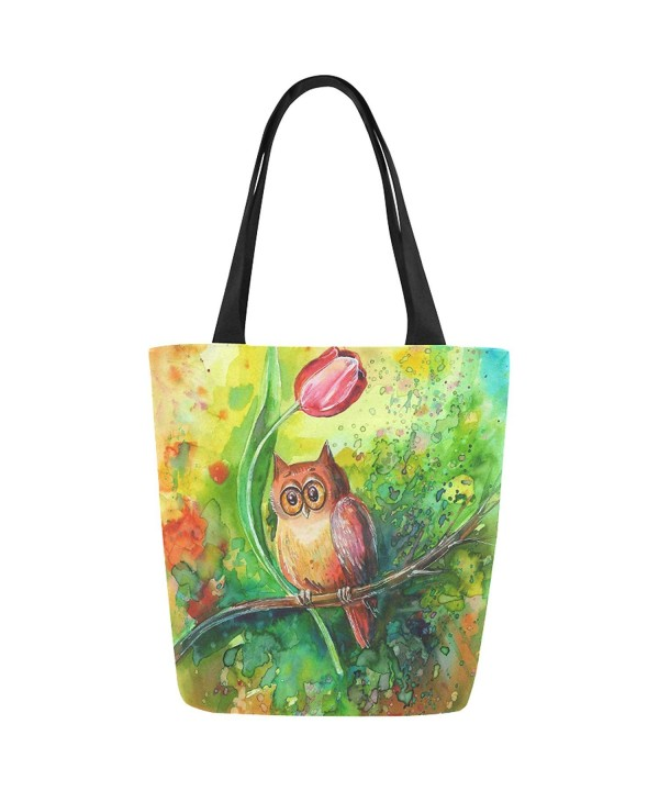 InterestPrint Watercolor Tulips Shoulder Handbag