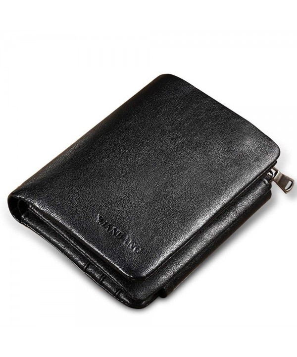 Leather Trifold Capacity Wallet Zipper