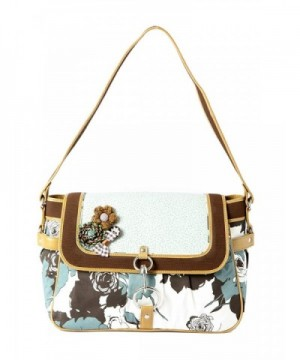 Ivory Tag Leather Fabric Handbag