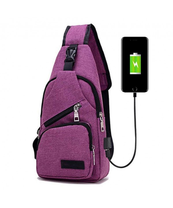 9eea6f0eafab Men Chest Pack Single Bag Crossbody Bags For Women Sling Shoulder Bag Back  Pack Travel - Purple - C818EWDW7WZ