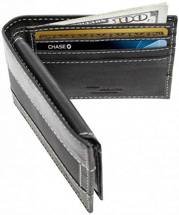 Slim Bifold Leather Wallets Men
