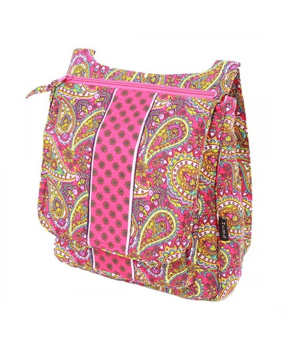 Cotton Cross body Paisley Pink