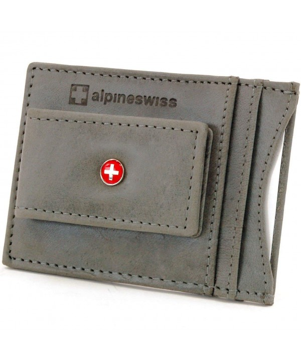 Alpine Swiss Wallet Leather Pocket