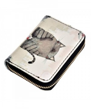 Wallet Womens Pattern Zipper Credit