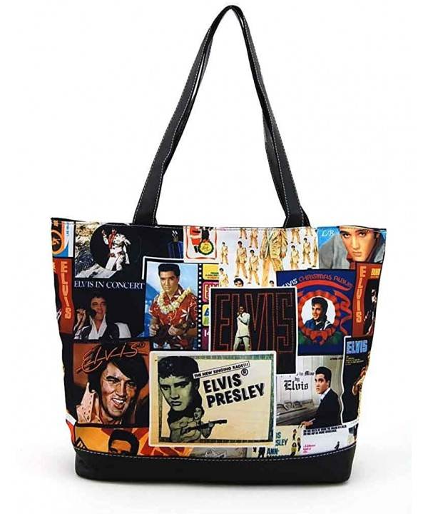 Elvis Presley Large Collage Tote
