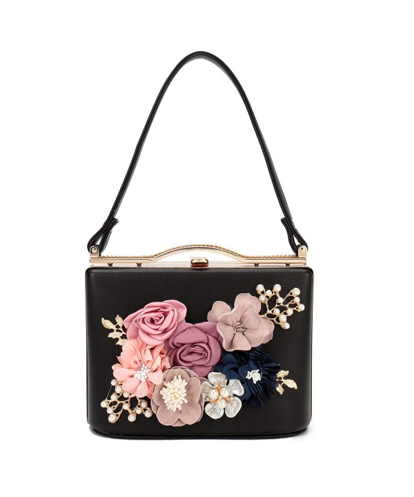 Womens Flower Evening Handbag Wedding