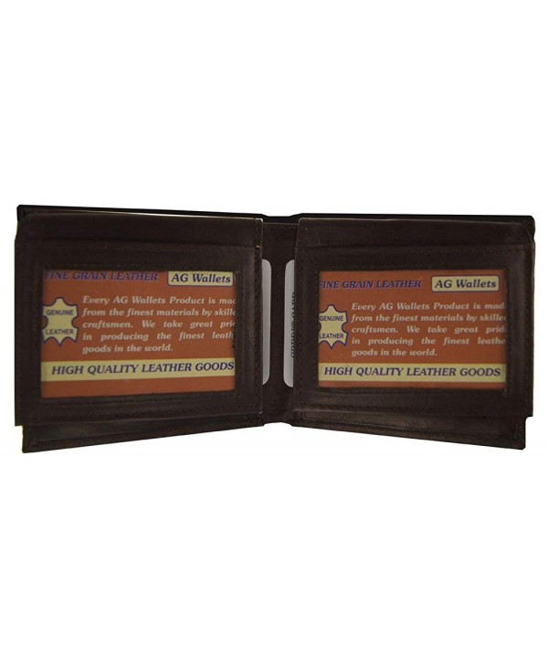 Wallets Cowhide Leather Flip up Windows