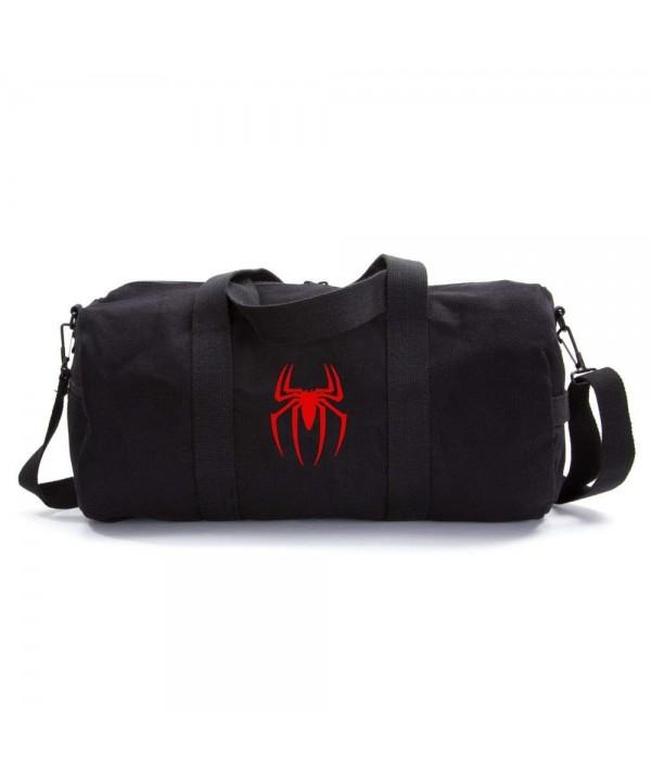 Spiderman Symbol Heavyweight Canvas Duffel