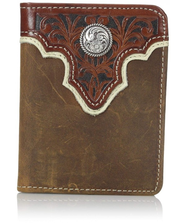 Ariat Concho Overlay Bifold Light