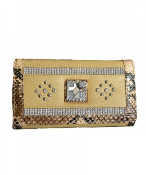 women butter rhinestone clutch wallet