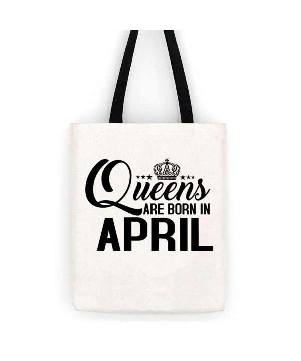 Queens April Birthday Cotton Canvas