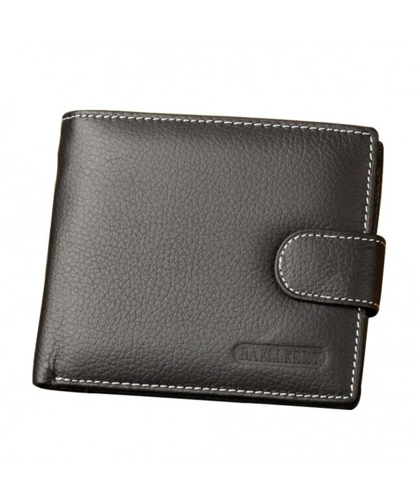 Blocking Genuine Leather Window Bifold