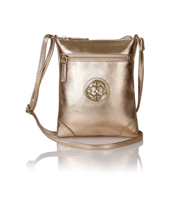 Vegan Leather Crossbody Medallion Festival